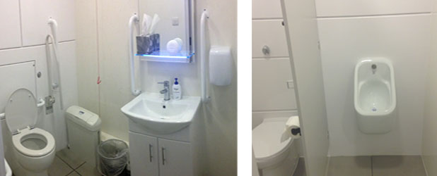 Refurbishment of toilets (ladies/mens/disabled) at Barrett & Co Solicitors.