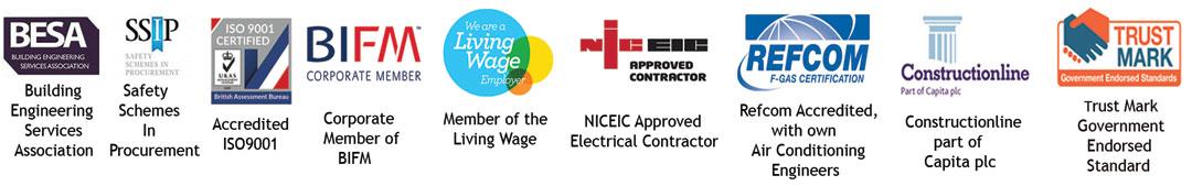 ErgoPlus Accreditation Logos